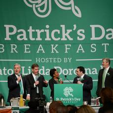 Cleaning The Plate On The St. Patrick's Day Breakfast