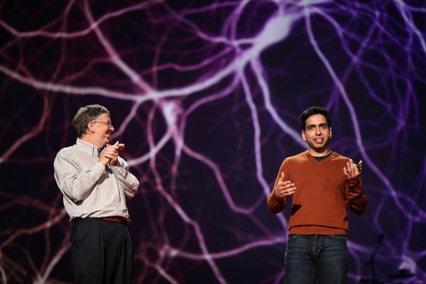 Sal Khan of Khan Academy with Bill Gates