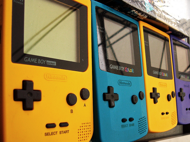 Game Boys in a row