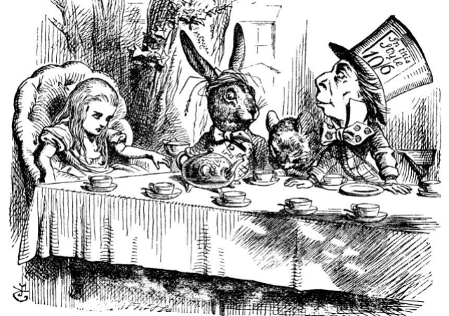 One of John Tenniel's original illustrations for Alice in Wonderland.