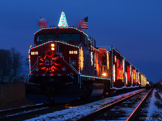 A holiday train