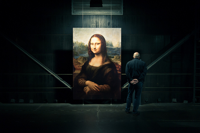 Mona Lisa copy in warehouse