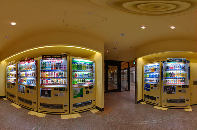Room filled with vending machines