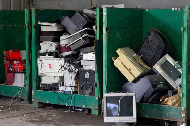 Ton of electronic waste