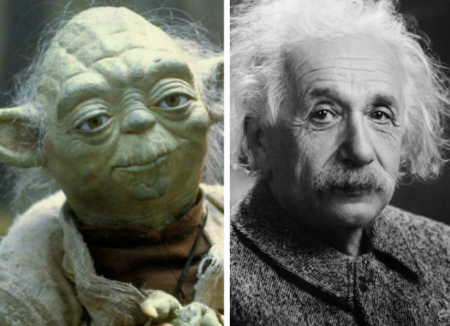 Yoda and Einstein...they look similar