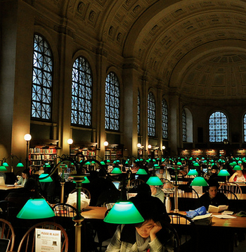 The beautiful Boston Public Library