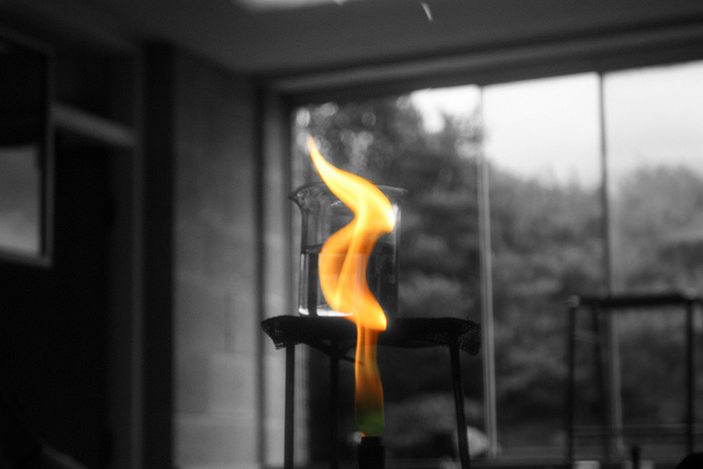 A bunsen burner commonly used in science experiments. Credit: Ange Gilroy / Flickr Creative Commons