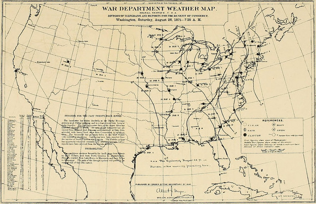 A 19th century weather map.
