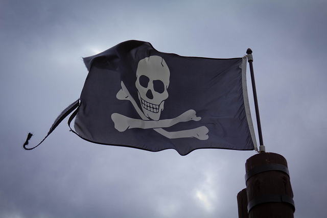 A pirate flag.