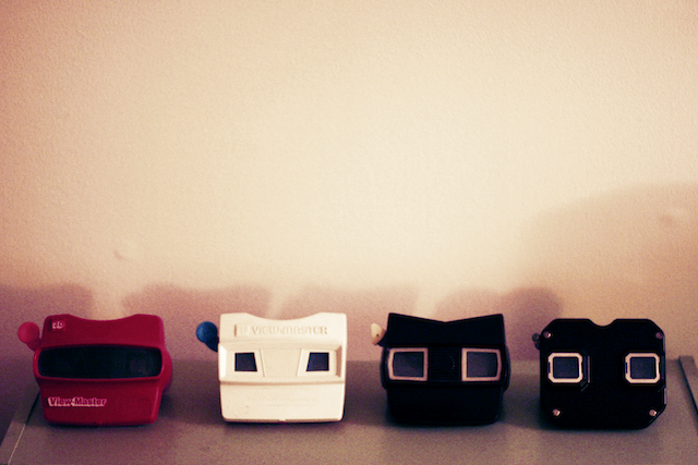 A row of '70s view-masters.