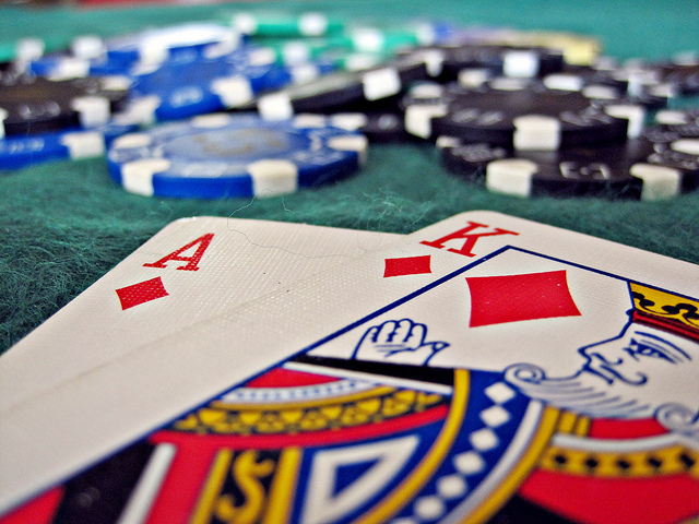 Hand of blackjack