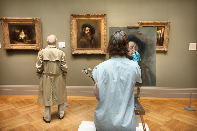 Painting a Rembrandt self-portrait