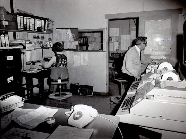Office work in 1975