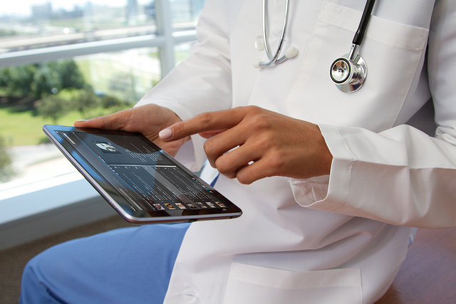 Doctor with a tablet